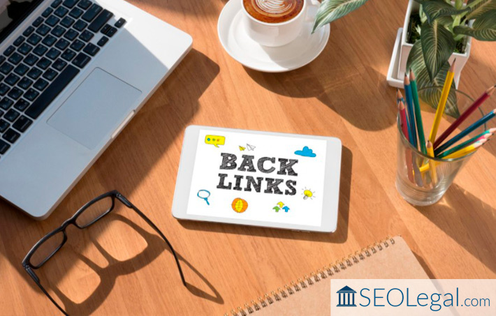 Backlinks sign on tablet on screen