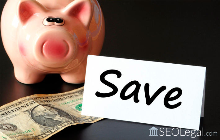 image of a piggy bank to suggest saving money for legal marketing firms