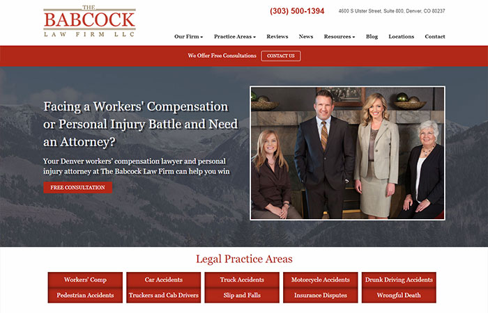 The Babcock Law Firm website